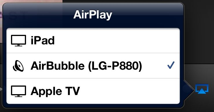 AirPlay Screen - drahtlose Übertragung von Apple