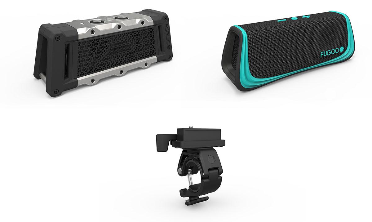 Fugoo Core und Halterung mit Bluetooth - Outdoor Lautsprecher mit Fahrradhalterung
