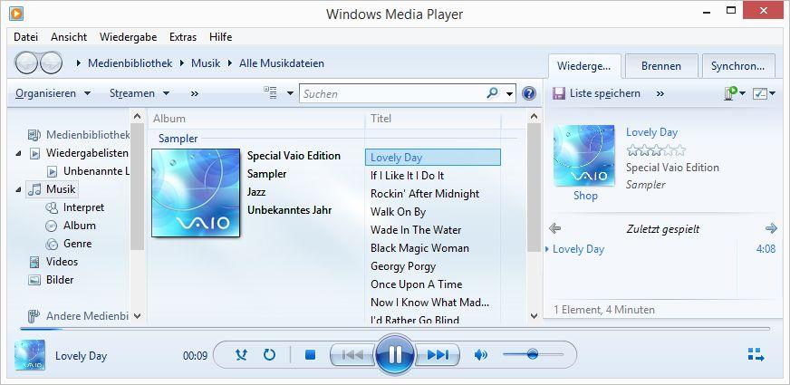 Windows Media Player Windows 8.1