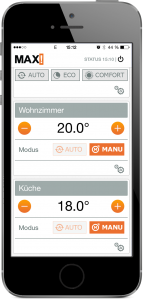 Heizungssteuerung: eQ-3 MAX! App
