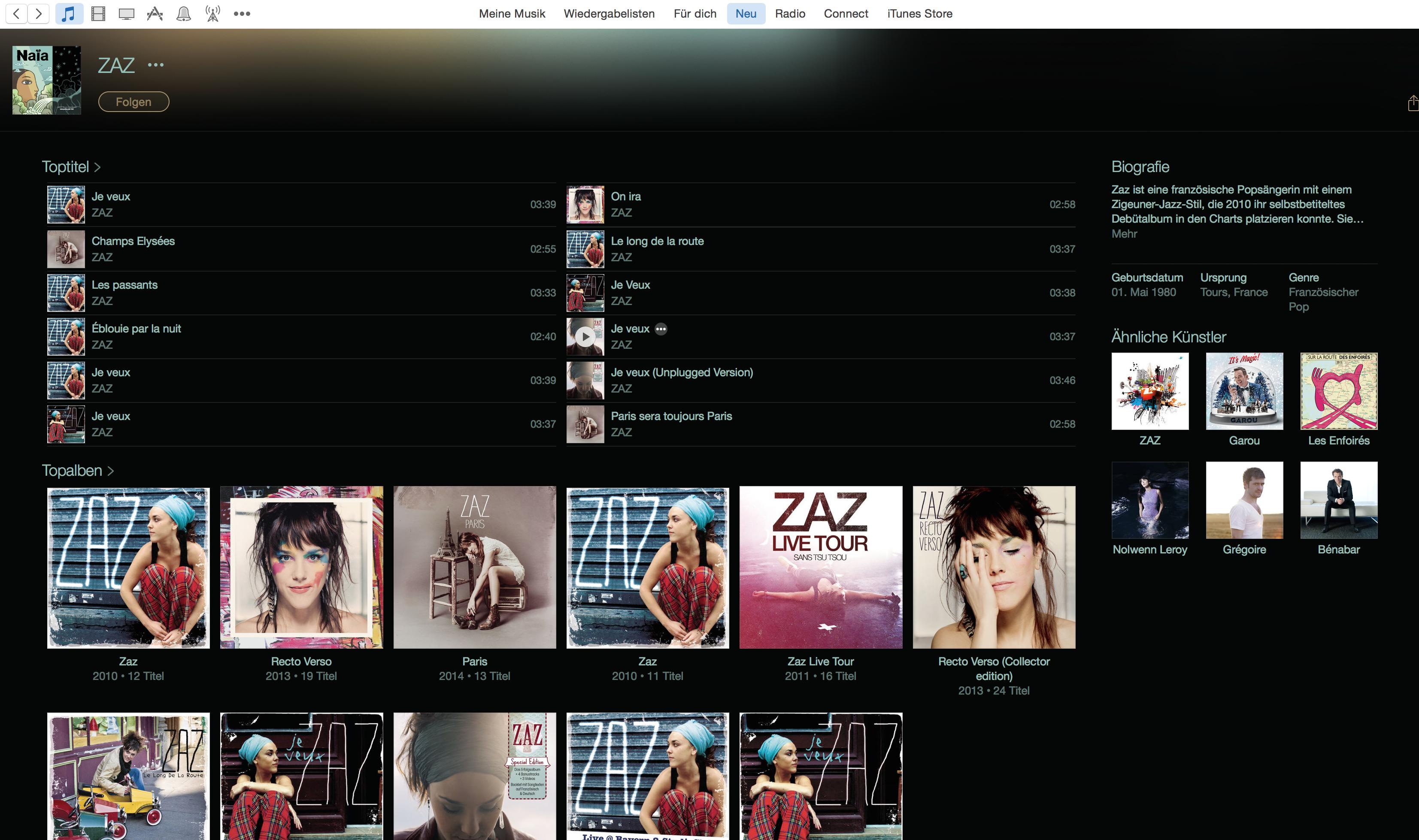 AppleMusic Interpreten
