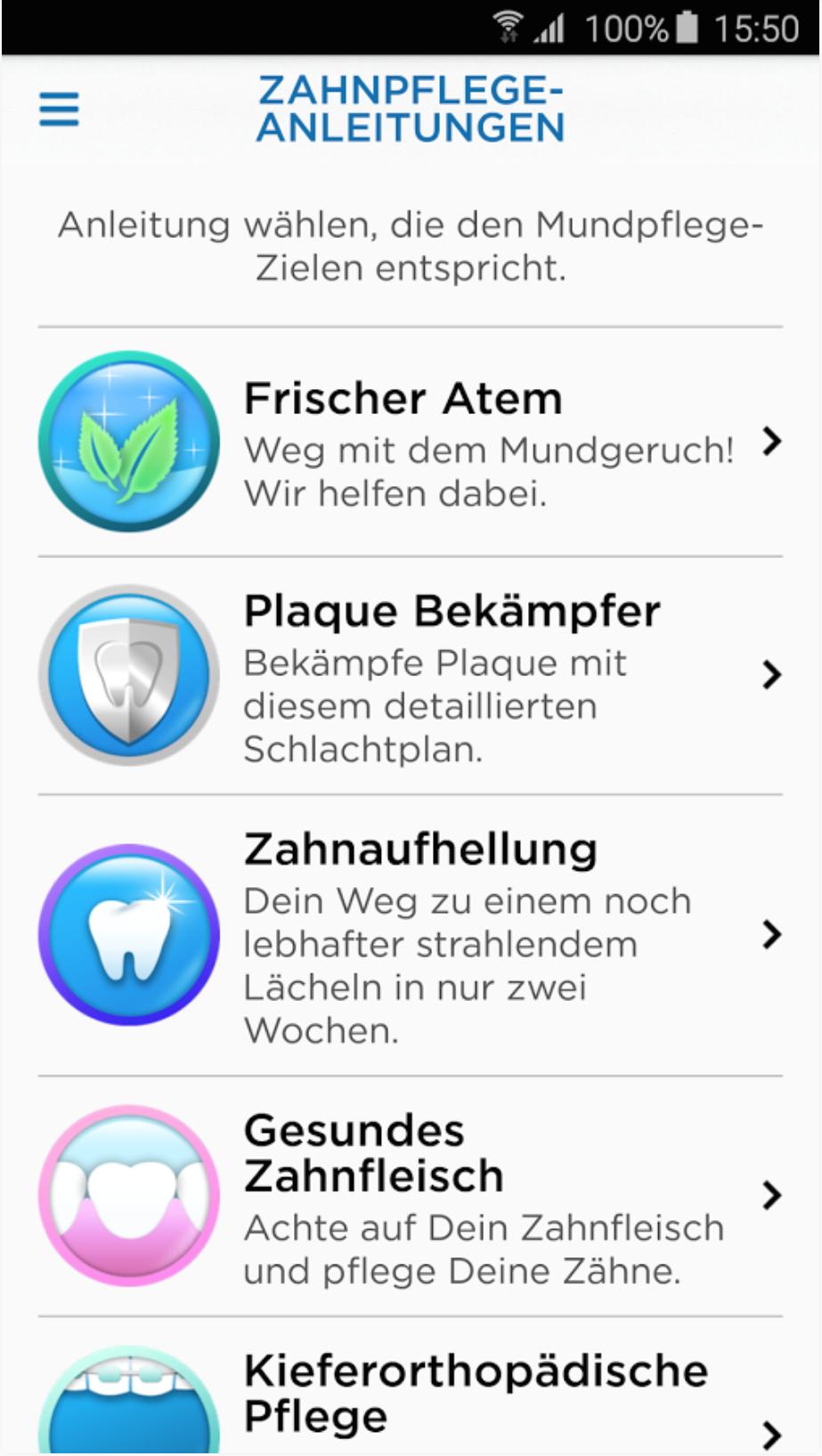 Zahnpflege der Zukunft: Oral-B interativ Zahnpflege-Anleitungen