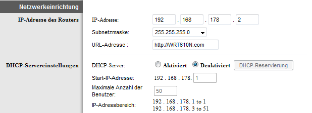 WLAN-Router als Access Point: Einstellung Linksys