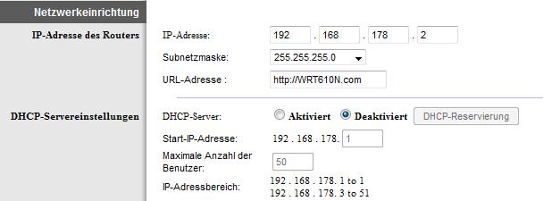 WLAN-Router als Access Point: Einstellung Linksys