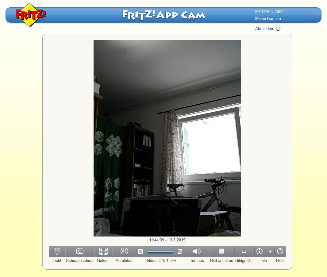 Smartphone wird zur Überwachungskamera: AVM FritzApp-Cam