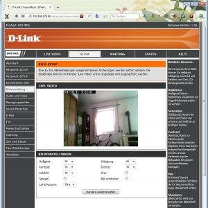 Netzwerkkamera D-Link DCS-935L Weboberfläche