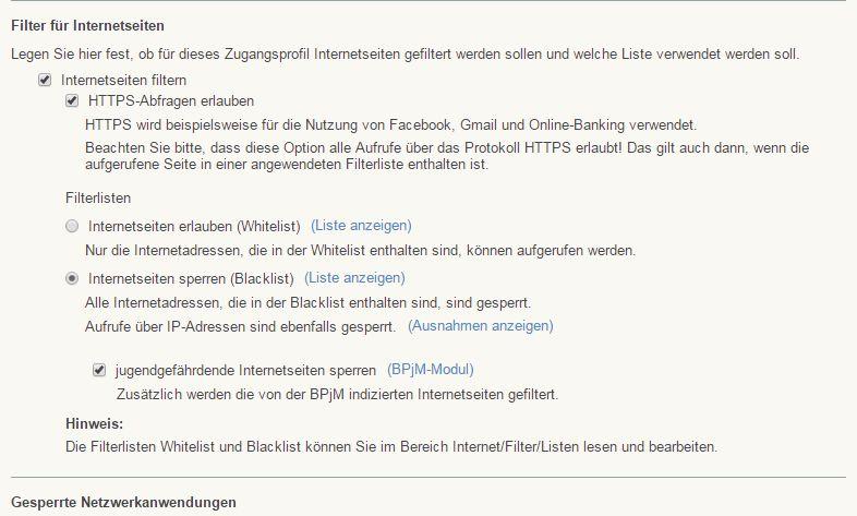 Gastzugang im WLAN: BPjM-Modul der Fritzbox