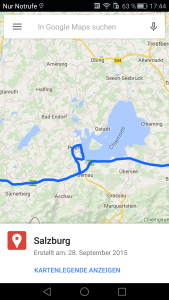 Google maps_android-route