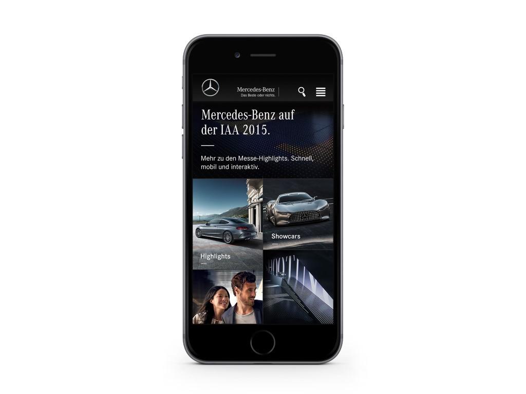 Mercedes Benz IAA App 2015