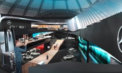 Mercedes Benz IAA App 2015 Mercedes IAA Messestand