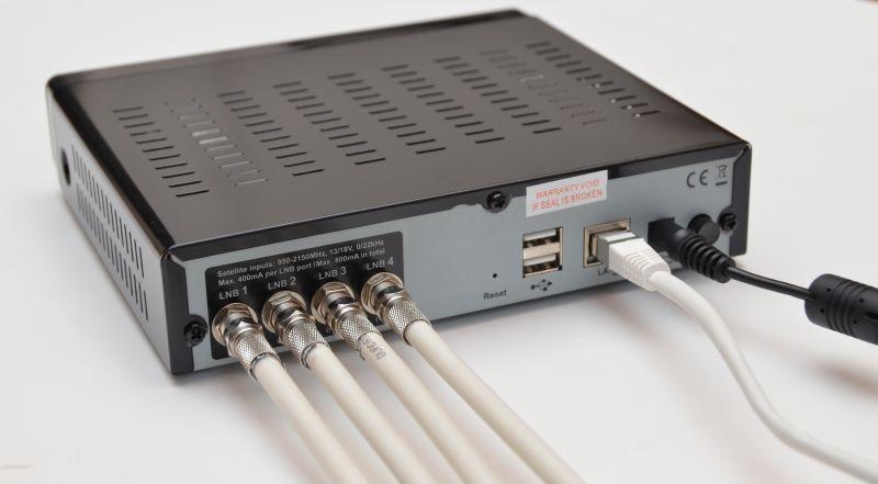 Sat over IP: Telestar DigibitR1 Anschluss Sat LAN