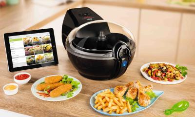 Intelligent fettarm kochen: Tefal Heissluftfritteuse ActiFry Smart XL