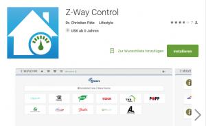 Z-Wave Western Digital D Z-Way-Control App
