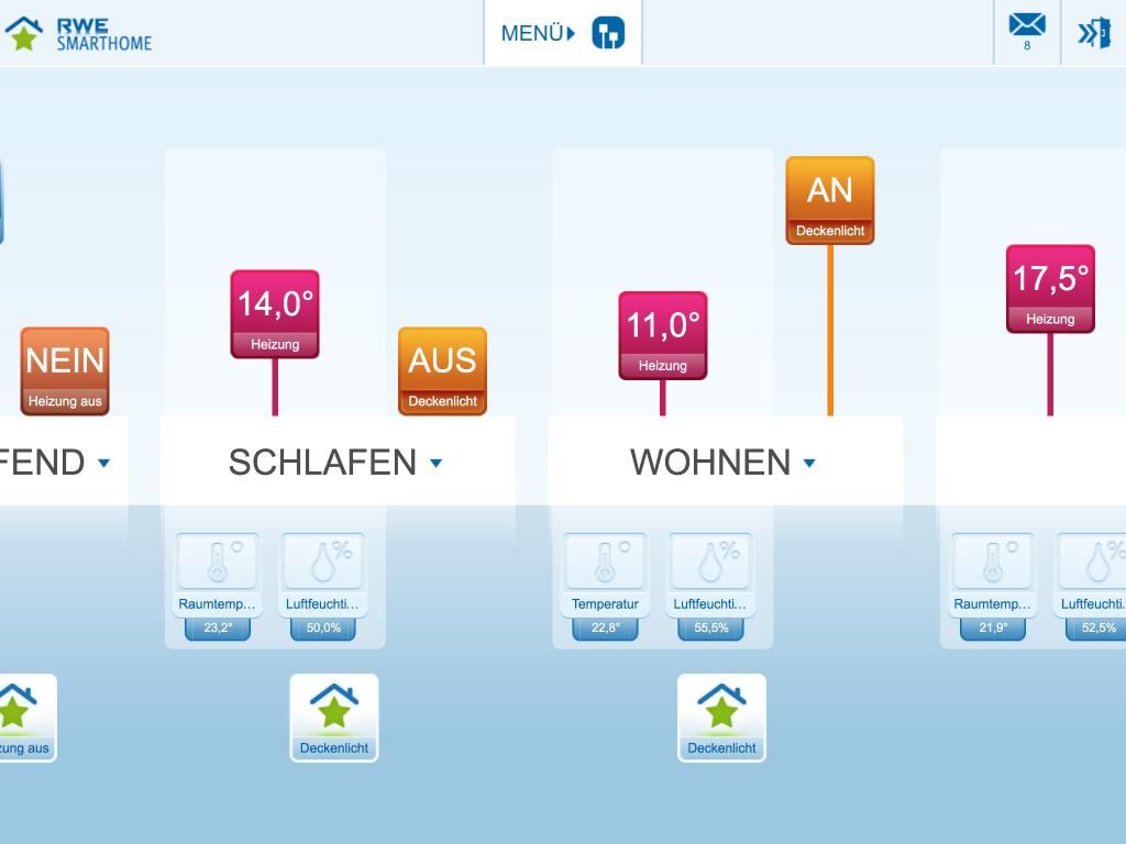 RWE SmartHome: Das Starterpaket lässt sich einfach per iPad steuern