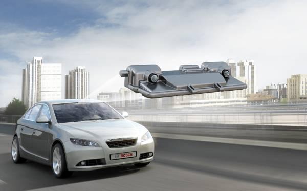 Fußgängerschutz:  Stereo-Videosensor von Bosch fürr die Fahrerassistenz