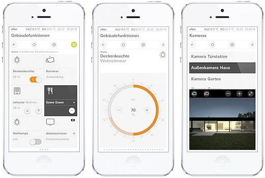 haussteuerung mobile app gira enet vernetzte welt. Black Bedroom Furniture Sets. Home Design Ideas