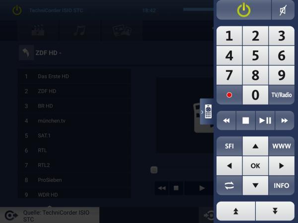 Multiroom - Satelliten-TV auf Tablett Technicorder