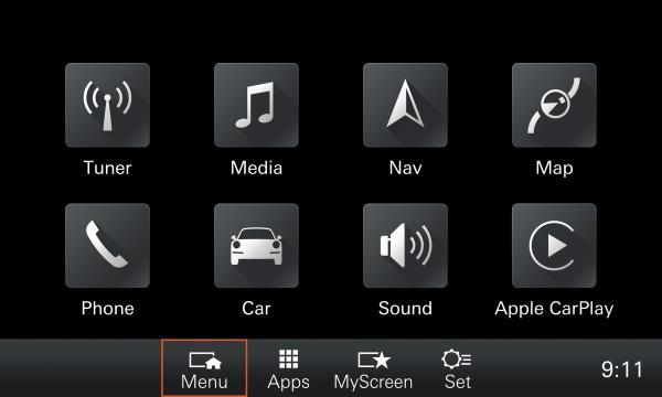 Porsche 911 mit PMC Apple-Car-Play