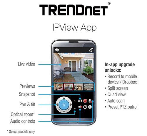 Überwachungs-App: Trendnet Überwachungs App kostenlos
