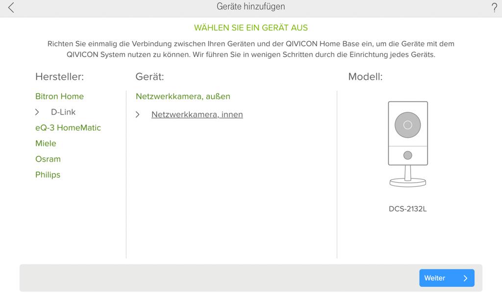 Telekom Smart Home: D-Link DCS-2132l-1 einbinden