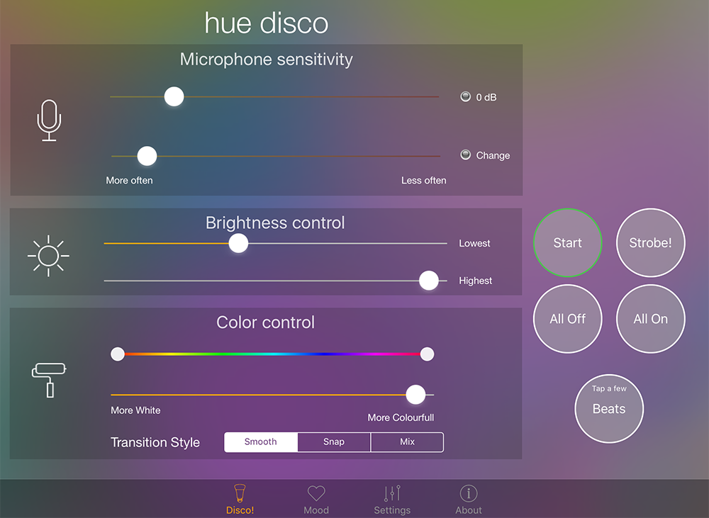 Philips Hue: App Hue Disco