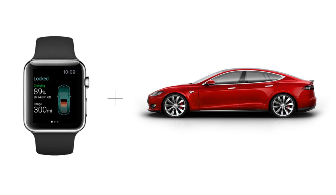 Smartwatch und Auto: Tesla Connected Car