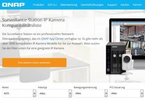 Fernzugriff QNAP Liste aller unterstützten IP-Kameras