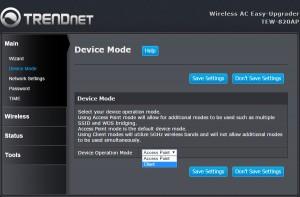 Router-Erweiterung : Trendnet TEW-820AP Betriebsart