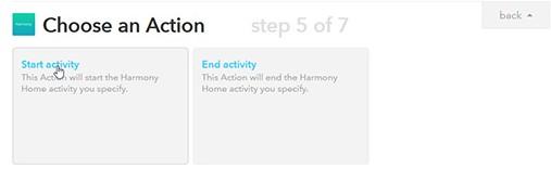 Harmony mit IFTTT verbinden