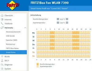 Fritzbox SmartHome Heizkörperregler Zeitschaltung