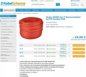 Kabelscheune Netzwerkkabel Meterware