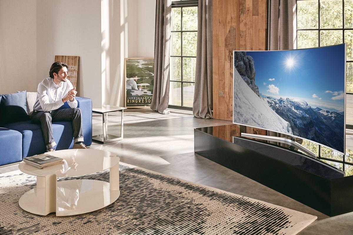 samsung fernsehen der zukunft auf der ces 2016 vernetzte welt. Black Bedroom Furniture Sets. Home Design Ideas