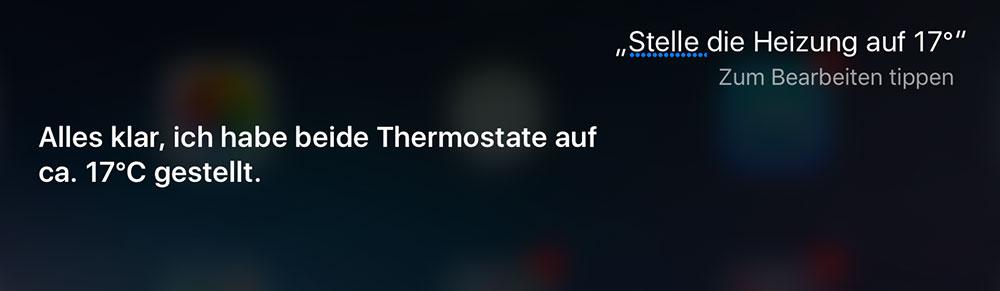 Elgato Eve Thermo: Siri-Sprachsteuerung