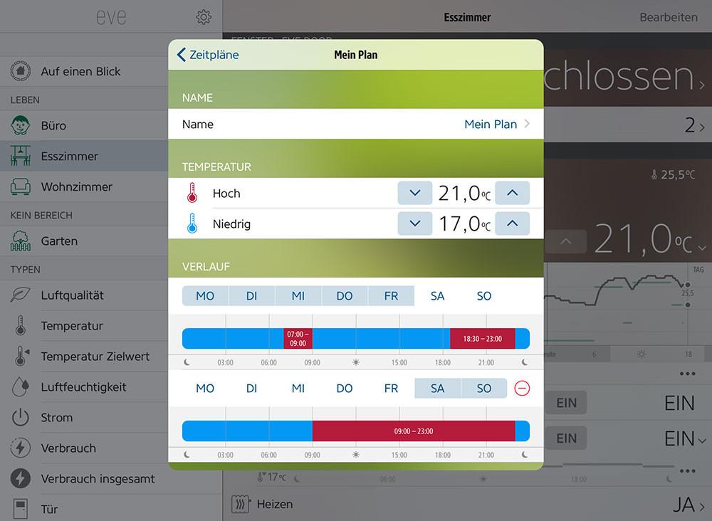 Elgato Eve Thermo: App