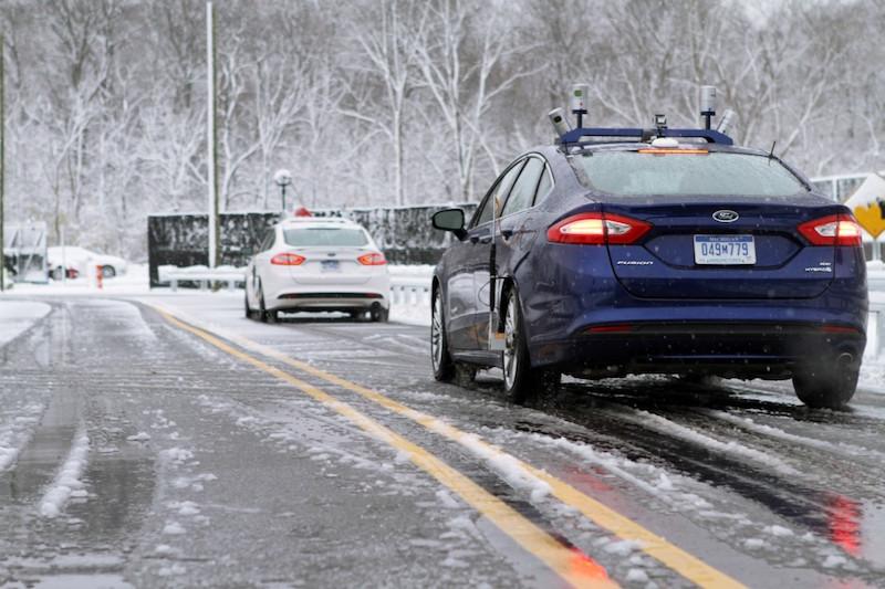 Ford und IBM: Der gemeinsame Weg nach vorn: Ford arbeitet derzeit an Modellen, die auch bei Schnee automatisiert unterwegs sein können.