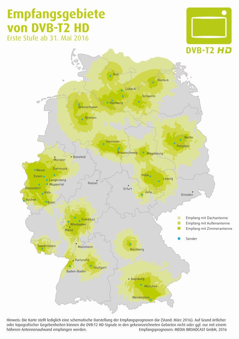 Karte: DVB-T2 HD