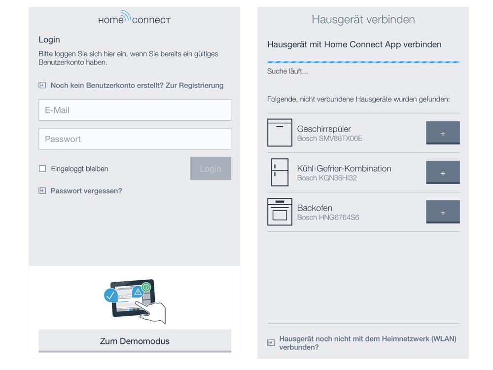 Die Installation des Kamera-Kühlschranks per App