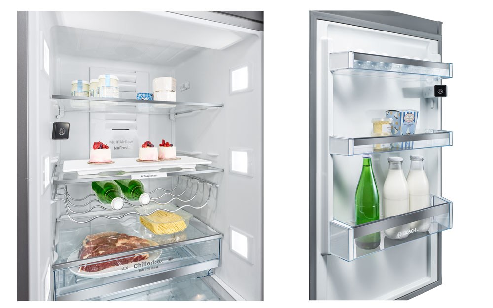 Die Kameras des Kühlschranks