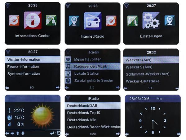 Display: VR-Radio WLAN Internetradio Box IRS-600