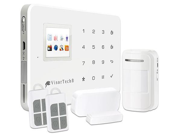 VisorTech GSM-Alarmanlage mit Funk und Handynetz-Anbindung XMD-4400.pro