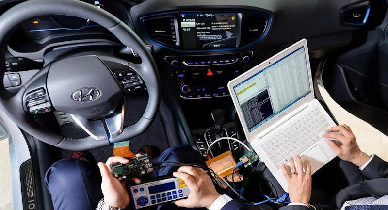 Potenzial für vernetztes Fahren: Hyundai arbeitet mit Hochdruck an neuen Navigations- und Komfort-Systemen. (Bild: Hyundai)