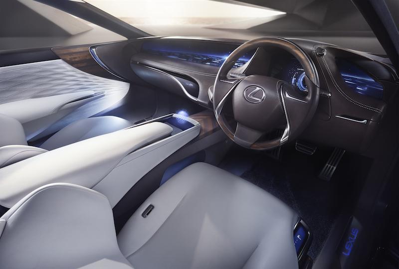 Lexus LC Brennstoffzellen: Sieht so das neue Interieur des Lexus LS aus? Vor allem auf die Holographie darf man gespannt sein.