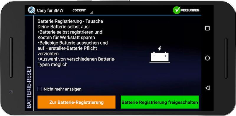 Mit der Carly App kann man den Zustand der Batterie genau untersuchen.
