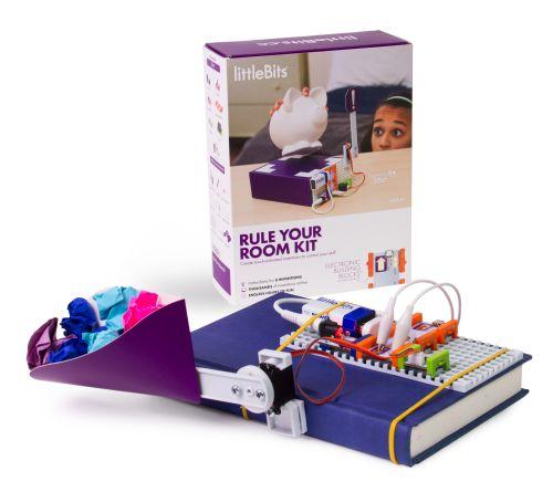 """Das littleBits """"Rule Your Room""""-Set, geeignet für Kinder von 8 bis 13 Jahren."""