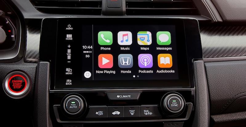 Neuer Civic mit Honda Connect: Apple CarPlay gehört nun auch zum Standard bei Honda Connect.