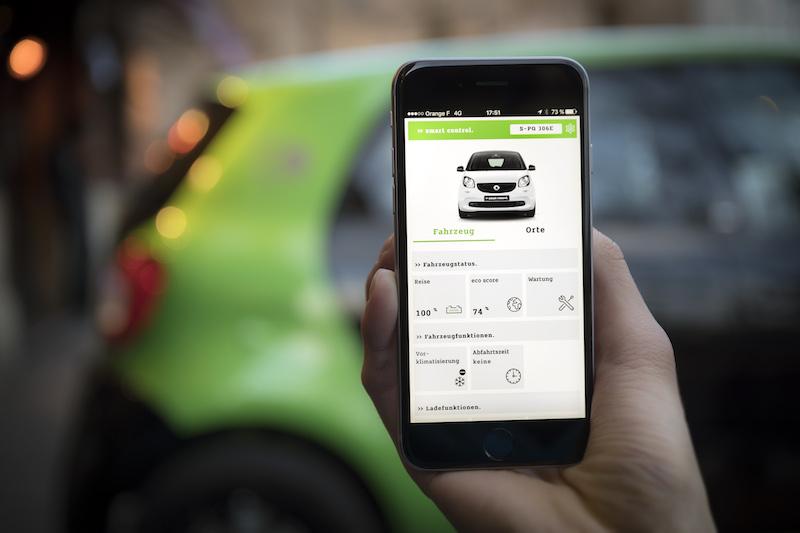 "Praxistest Smart Forfour ED - Mit der ""Smart Control"" App läßt sich der Ladevorgang sehr clever steuern."