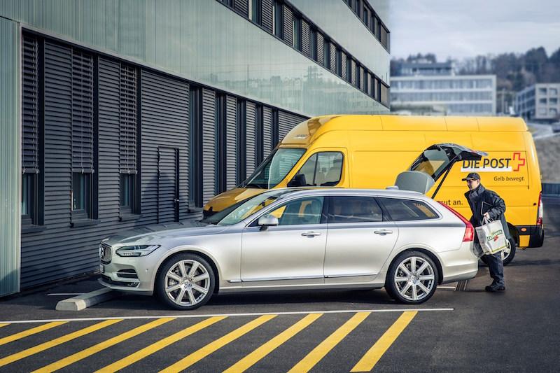 Praxistest Volvo XC90 - Bald mit der neuen App von Volvo möglich. Paketanlieferung in den eigenen Volvo.