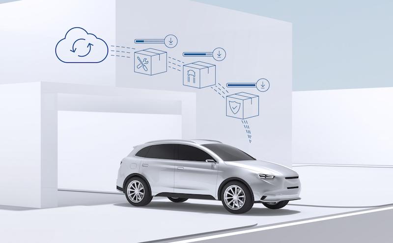 Bosch 2018 - Dank der neuen Cloud von Bosch sollen bald Updates über Nacht auf den Wagen gespielt werden.