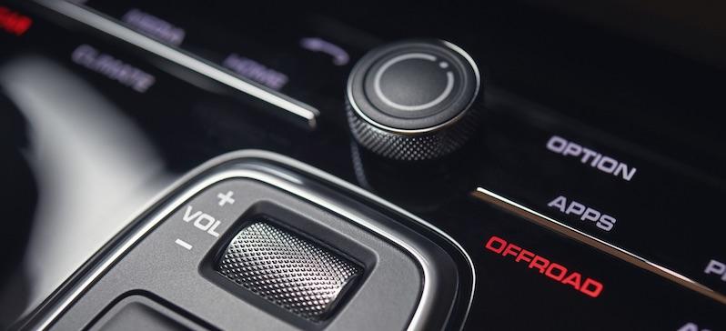 Porsche Cayenne 2018 - Per Sensitive-Technik werden nahezu alle Einstellungen über die sehr edle Schaltfläche vorgenommen.