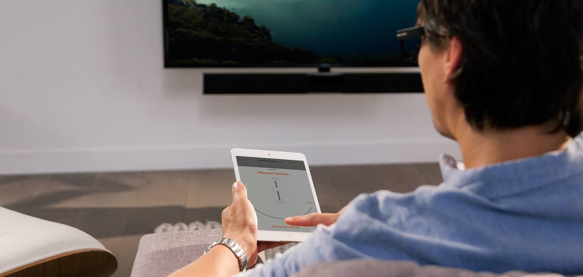 Steuerung Mit App: Motorisierte Fernseher Wandhalterung